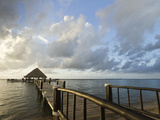 A Dock and Palapa, Placencia, Belize Photographic Print by William Sutton