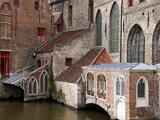 Canals, Bruges, Belgium Reproduction photographique par Kymri Wilt