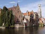 Rozenhoedkaai View, Bruges, Belgium Reproduction photographique par Kymri Wilt