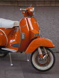 Vespa Scooter, Llanes, Spain Photographic Print by Walter Bibikow