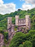 Castle Rheinstein, Rheinland-Pflaz, Germany Stampa fotografica di Miva Stock