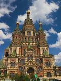 Saints Peter and Paul Cathedral, Peterhof, Saint Petersburg, Russia Bedruckte aufgespannte Leinwand von Walter Bibikow