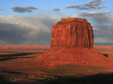 Merrick Butte at Sunset, Monument Valley, Arizona, USA Photographic Print by Michel Hersen