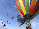 Mass Ascension at the Albuquerque Hot Air Balloon Fiesta, New Mexico, USA Photographic Print by William Sutton