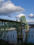 Us 101 Bridge, Newport, Oregon, USA Photographic Print by Peter Hawkins
