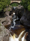 Temperance River State Park, Schroeder, Minnesota, USA Stretched Canvas Print by Peter Hawkins
