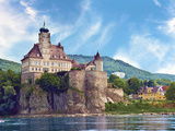 The Stunning Schonbuhel Castle Sits Above the Danube River Along the Wachau Valley of Austria Photographic Print by Miva Stock