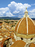 High Angle View of a Cathedral, Duomo Santa Maria Del Fiore, Florence, Tuscany, Italy Stampa fotografica di Miva Stock