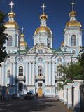 Nikolsky Cathedral, Saint Petersburg, Russia Fotografie-Druck von Walter Bibikow