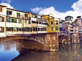 Ponte Vecchio and Arno River, Florence, Tuscany, Italy Stampa fotografica di Miva Stock