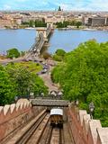 Castle Hill Funicular, Budapest, Hungary Stampa fotografica di Miva Stock