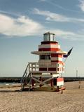 Lifeguard Station, South Beach, Miami, Florida, USA Reproduction photographique par Richard Duval