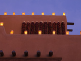 Farolitos, Santa Fe, New Mexico, USA Photographic Print by Julian McRoberts
