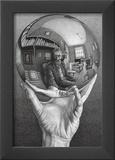 Hands with Sphere Posters por M. C. Escher