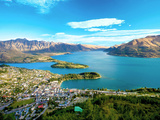 View Towards Queenstown, South Island, New Zealand Stampa fotografica di Miva Stock