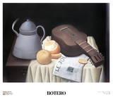 Still Life with Newspaper Samlertryk af Fernando Botero
