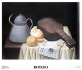 Still Life with Newspaper Collectable Print by Fernando Botero