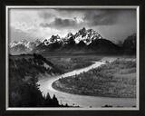 Tetons and The Snake River, Parque Nacional de Grand Teton, cerca de 1942 Posters por Ansel Adams