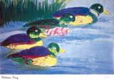 Four Ducks Posters av Walasse Ting