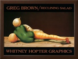 Reclining Salad Prints by Greg Brown