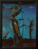 The Burning Giraffe, c. 1937 Posters por Salvador Dalí