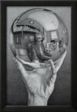 Hand with Globe Pôsters por M. C. Escher