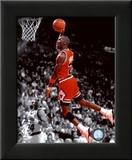 Michael Jordan 1990 Spotlight Action Framed Photographic Print