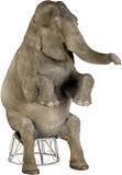 Asian Elephant Lifesize Standup Pappfigurer