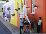 Colourful Houses, Bo-Cape Area, Malay Inhabitants, Cape Town, South Africa, Africa Reproduction photographique par Peter Groenendijk