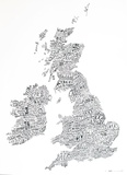 Word Map - UK Poster 高品質プリント