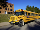 School Bus, St Joseph, Missouri, Midwest, United States of America, North America Photographic Print by Simon Montgomery