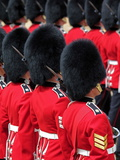 Soldiers at Trooping Colour 2012, Queen's Official Birthday Parade, Horse Guards, London, England Impressão fotográfica por Hans Peter Merten