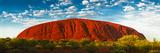 Uluru (Ayers Rock), Uluru-Kata Tjuta Nat'l Park, UNESCO World Heritage Site, Australia Fotografie-Druck von Giles Bracher