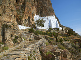 Hozoviotissa Monastery, Amorgos, Cyclades, Greek Islands, Greece, Europe Fotografisk tryk af  Tuul