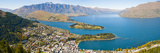 Aerial View of Queenstown, Lake Wakatipu and Remarkable Mountains, Otago Region, New Zealand Fotografisk trykk av Matthew Williams-Ellis