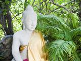 Stone Buddha in the Silver Pagoda at the Royal Palace, Phnom Penh, Cambodia, Indochina Photographic Print by Matthew Williams-Ellis