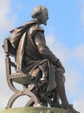 Shakespeare Statue, Gower Memorial, Stratford-Upon-Avon, Warwickshire, England, UK, Europe Fotografisk trykk av Rolf Richardson