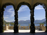 Loggia and Gardens of Villa del Balbianello on Punta di Lavedo, Lenno, Lake Como, Italy Photographic Print by Peter Barritt