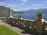 View from Terrace of 18th Century Villa del Balbianello, Lenno, Lake Como, Italian Lakes, Italy Reproduction photographique par Peter Barritt