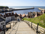 The 199 Steps in Whitby, North Yorkshire, England, United Kingdom, Europe Photographic Print by Mark Sunderland