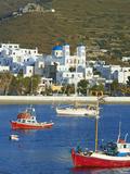 Katapola Port, Amorgos, Cyclades, Aegean, Greek Islands, Greece, Europe Lámina fotográfica por  Tuul