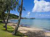 Beach in Noumea, New Caledonia, Melanesia, South Pacific, Pacific Fotografisk trykk av Michael Runkel