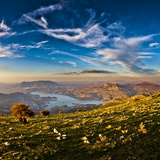 Twin Peaks, Tagus Algarin and Sima de Las Grajas by Reservoir Zahara-El Gastor, Andalucia, Spain Reproduction photographique par Giles Bracher