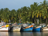 Fishing Boats Along the Backwaters, Near Alappuzha (Alleppey), Kerala, India, Asia Photographic Print by Stuart Black