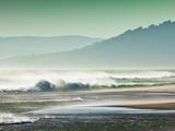 Storm Force Levante Winds Blowing Tops of Waves, Estrecho Natural Park, Los Lanses Beach, Spain Reproduction photographique par Giles Bracher