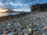 Sunset at Elgol Beach on Loch Scavaig, Cuillin Mountains, Isle of Skye, Scotland Photographic Print by Chris Hepburn
