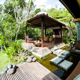 Outdoor Area at Luxury Accommodation Near Ubud on the Island of Bali, Indonesia, Southeast Asia Photographic Print by Matthew Williams-Ellis
