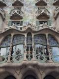 Facade of Casa Batllo by Gaudi, UNESCO World Heritage Site, Passeig de Gracia, Barcelona, Spain Photographic Print by Nico Tondini