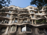 Mila House (Or La Pedrera) by Antoni Gaudi, UNESCO World Heritage Site, Barcelona, Spain Photographic Print by Nico Tondini