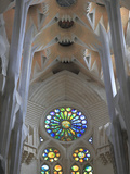 Interior of Sagrada Familia Temple, Barcelona, Catalunya, Spain, Europe Photographic Print by Rolf Richardson